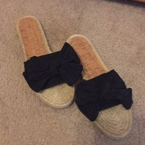 Black Bow Sandals by Disney for Target-size 9